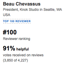 Beau Chevassus Amazon Reviewer