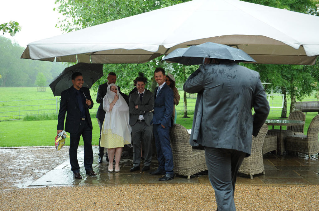 rained out wedding