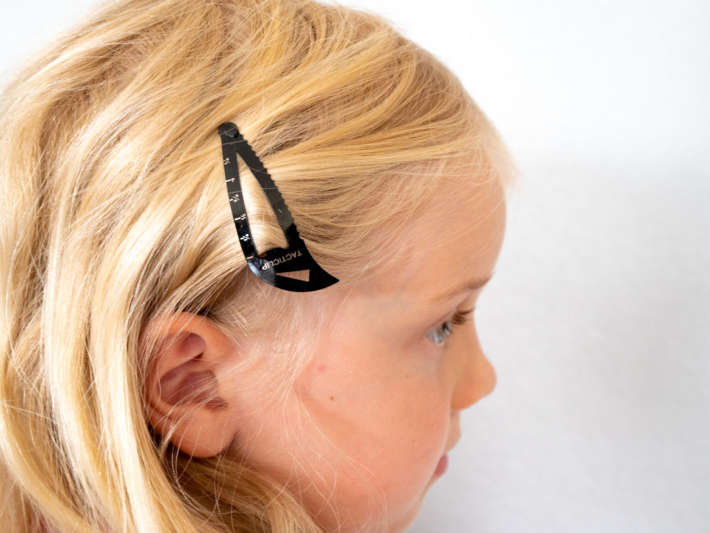 tacticlip hair clip on girl