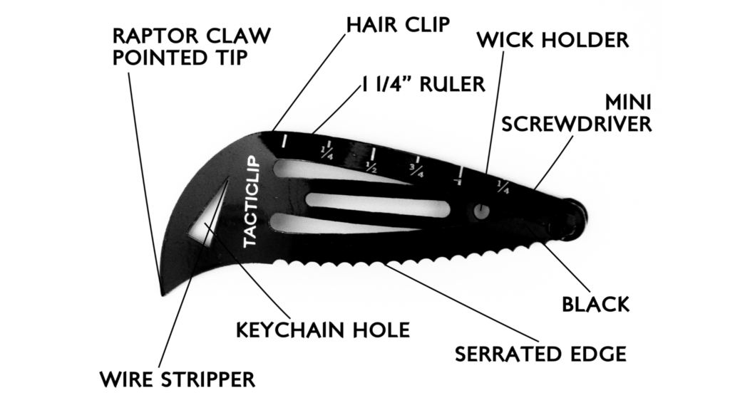 tacticlip hair clip features blow apart map
