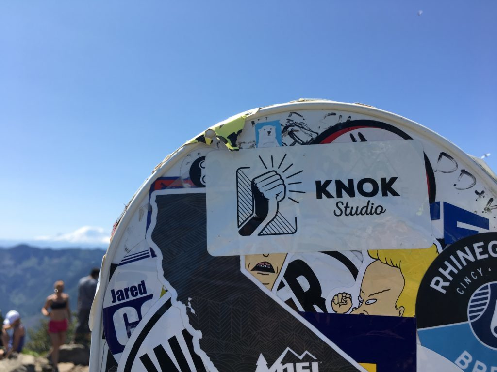 knok studio marketing sticker